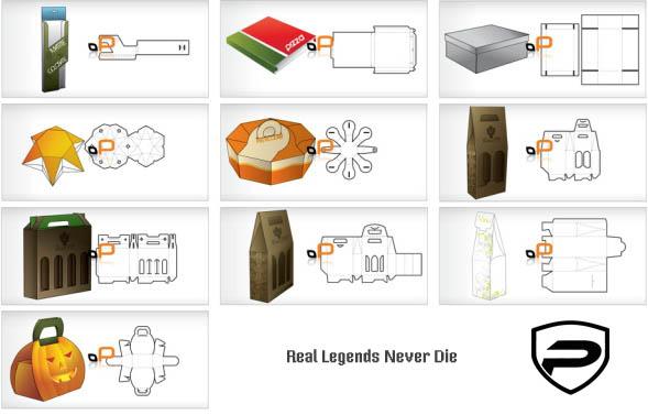 Развертки упаковок дизайн